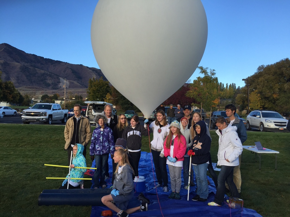 Testing high-altitude balloons out in the field.