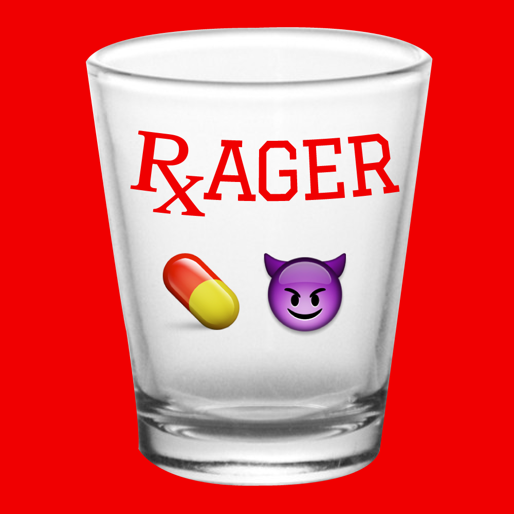 RxAGER Shot Glass Concept