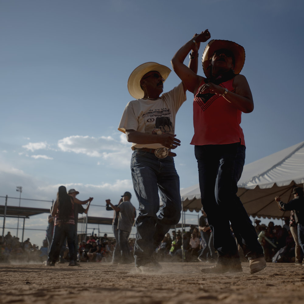 A couple dances in Gallup, New Mexico during a Fourth of July Celebration.