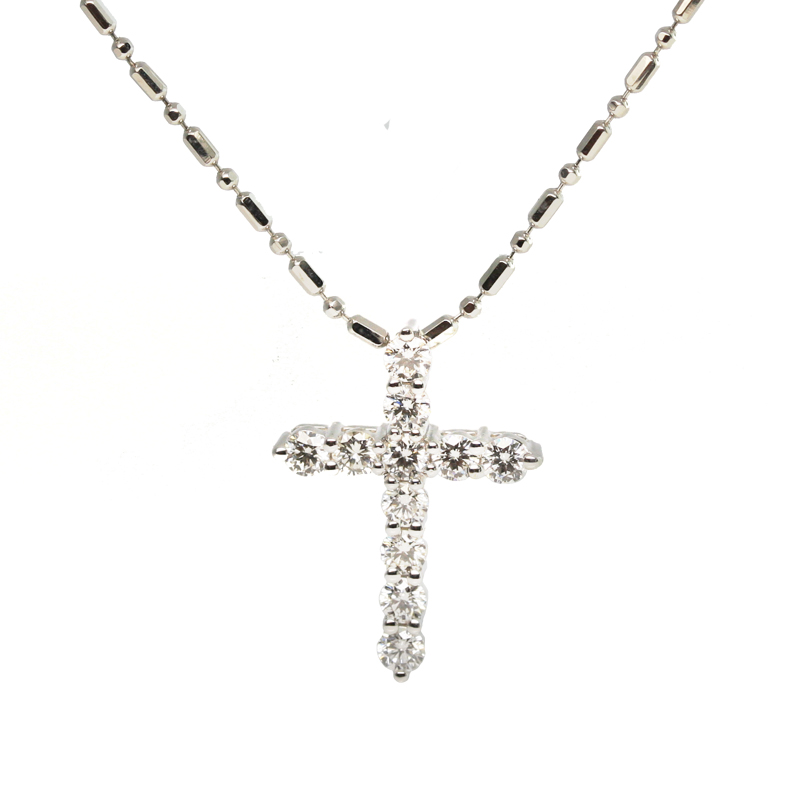 White gold and diamond cross pendant jewelry exchange co white gold and diamond cross pendant aloadofball Gallery