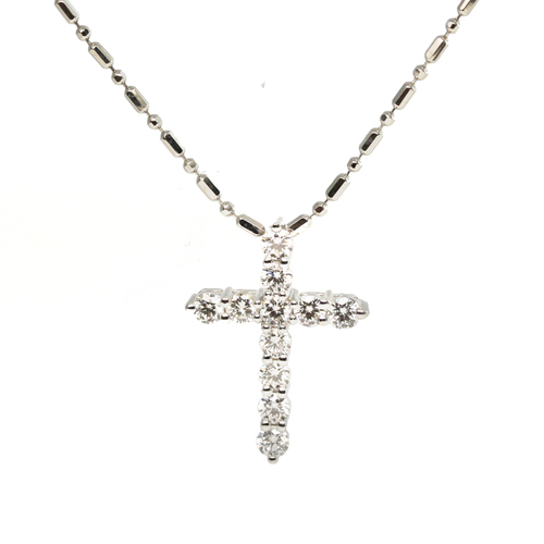 White gold and diamond cross pendant jewelry exchange co white gold and diamond cross pendant mozeypictures Gallery