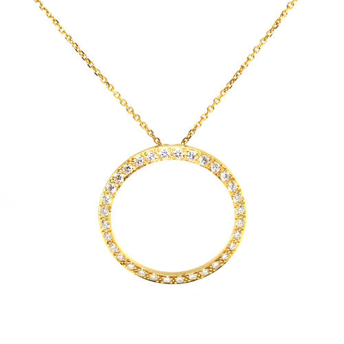 Yellow gold and diamond circle of love pendant jewelry exchange co yellow gold and diamond circle of love pendant aloadofball Choice Image