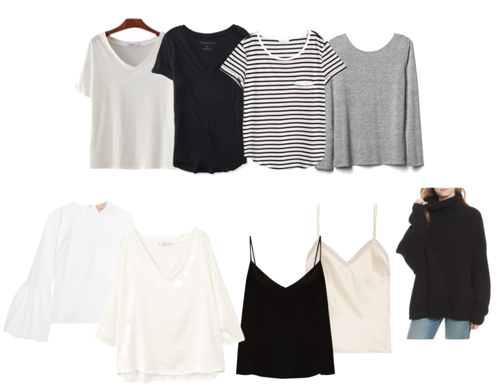 tops fall capsule wardrobe