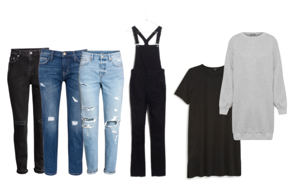 bottoms & dresses fall capsule wardrobe
