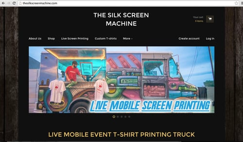 149f39db5a Graphic/Web Design — Event Screen Printing We're Now The Silk Screen Machine