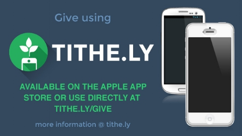 We are excited to have the option to tithe and donate using the TITHE.LY app. It is safe, secure, and eaasy to use. Give it a try today.