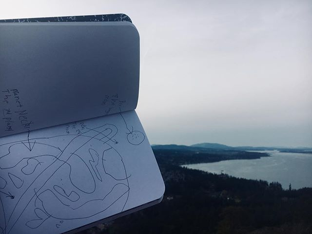 imaginary planets + our planet 💘🌎 // sketching at the top of mt. doug for our workshop today to get rid of some monday blues!