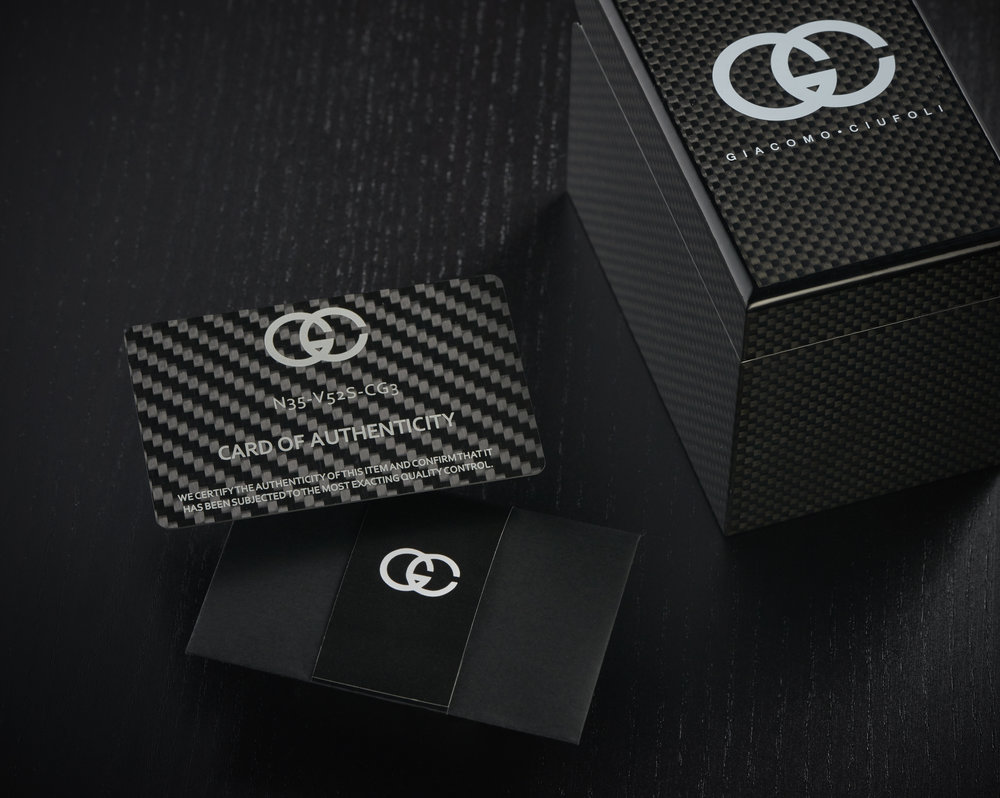 Packaging - Creativity and an extraordinary attention to detail extends well beyond the jewellery creations. It is essential that the packaging that houses each exceptional creation be equally as special, both in appearance, and physical touch. The choice of material for this element is carbon fibre.