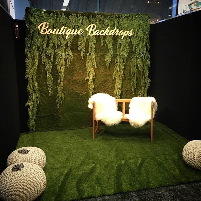 Step inside our booth at #nzbrideandgroomshow and put your feet up! We've created a cosy little corner for you to take a breather from all the wedding planning madness 🌿 find us on Level 2 x - #boutiquebackdrops #riverbankwall #nzbrideandgroom #weddingplanning #aucklandflowerwall  #flowerwallhire #greenerywall #greenwithenvy #flowerwalls #nzweddings #aucklandweddings #photoideas #photobooth
