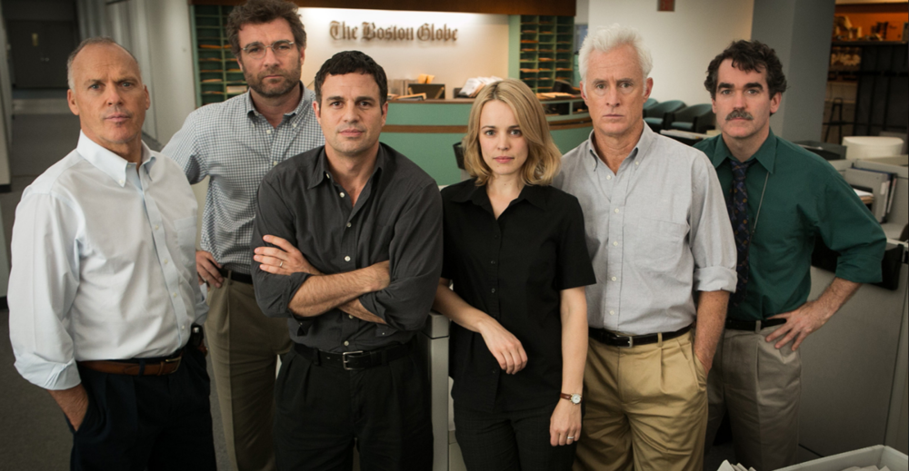 "Photo of ""Spotlight"" cast courtesy of Open Road Films"
