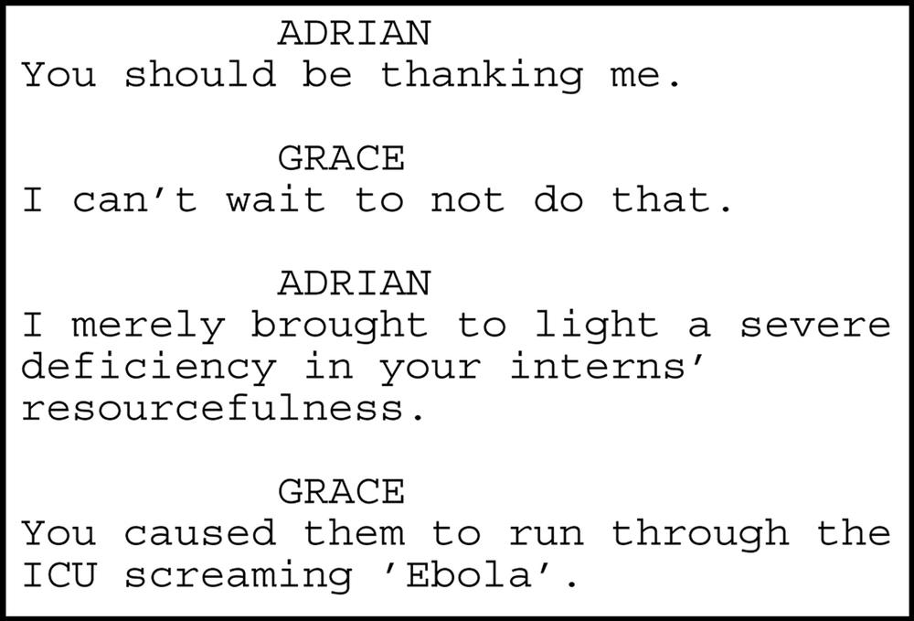 """Excerpt from Meyer's script """"Patient."""""""