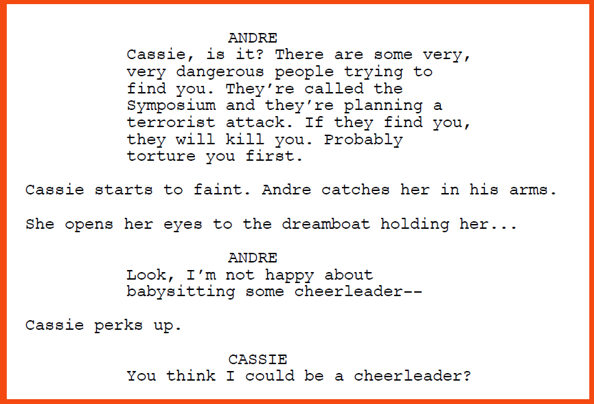 "Excerpt from the screenplay ""The Fake"" by Samuel Laskey"