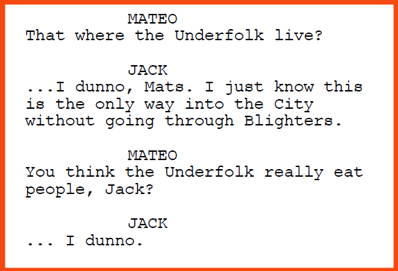 "Excerpt from the screenplay ""The Last Bookstore"""