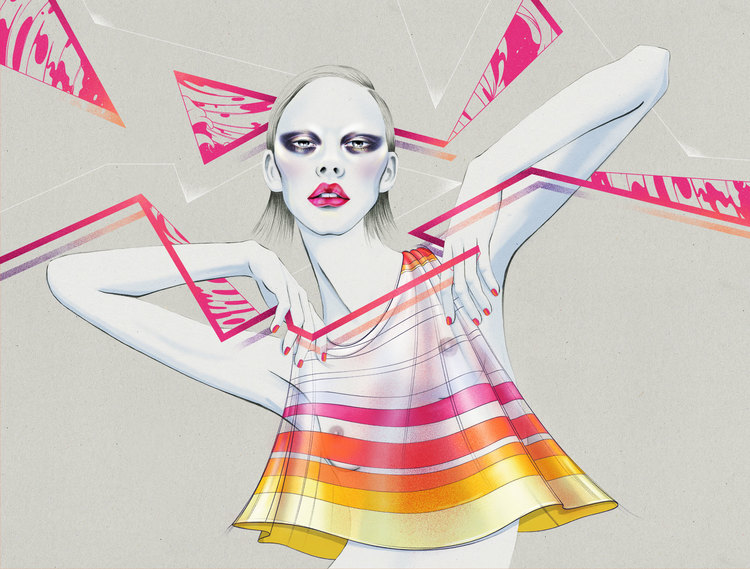 Kelly Thompson fashion Illustration