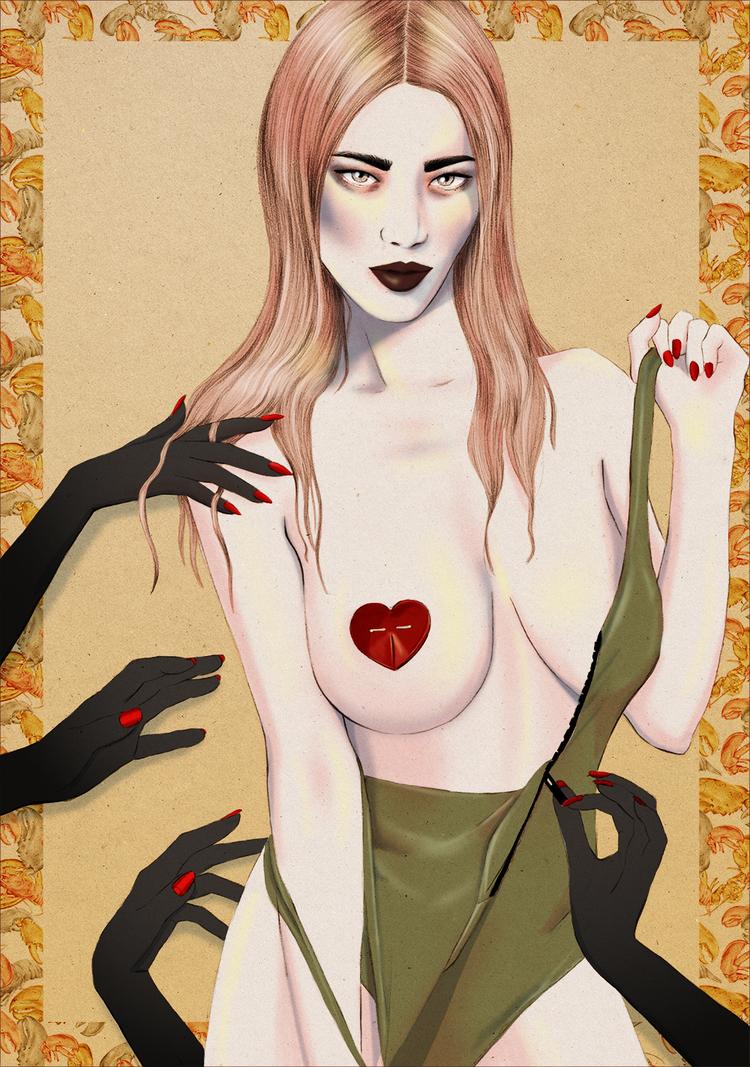 Kelly Thompson Illustration blog Marc Jacobs x Zara Bayne Pasties