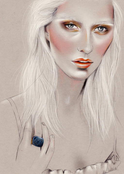Kelly Thompson beauty illustration blog