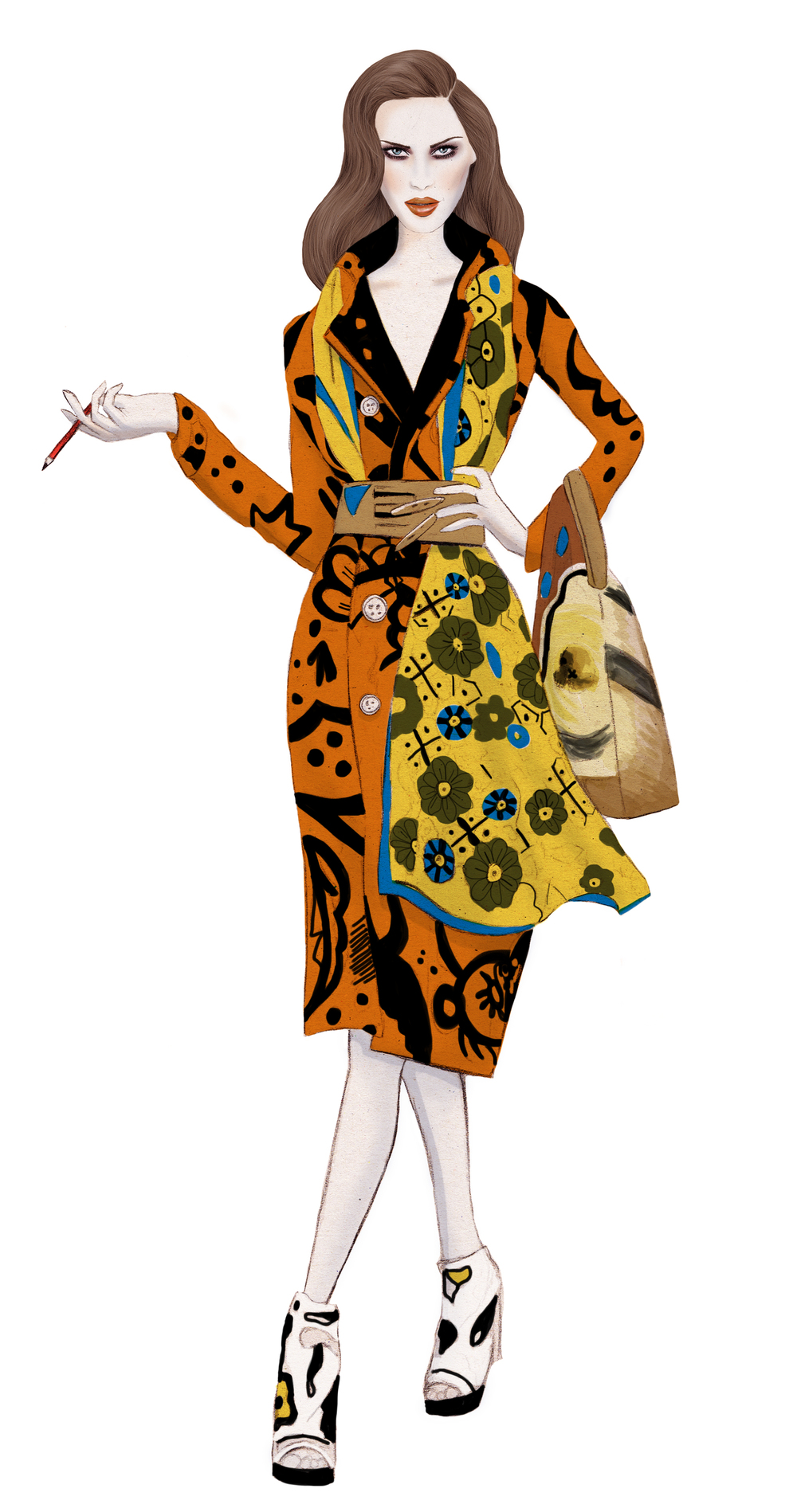 Kelly Thompson fashion illustration blog Burberry