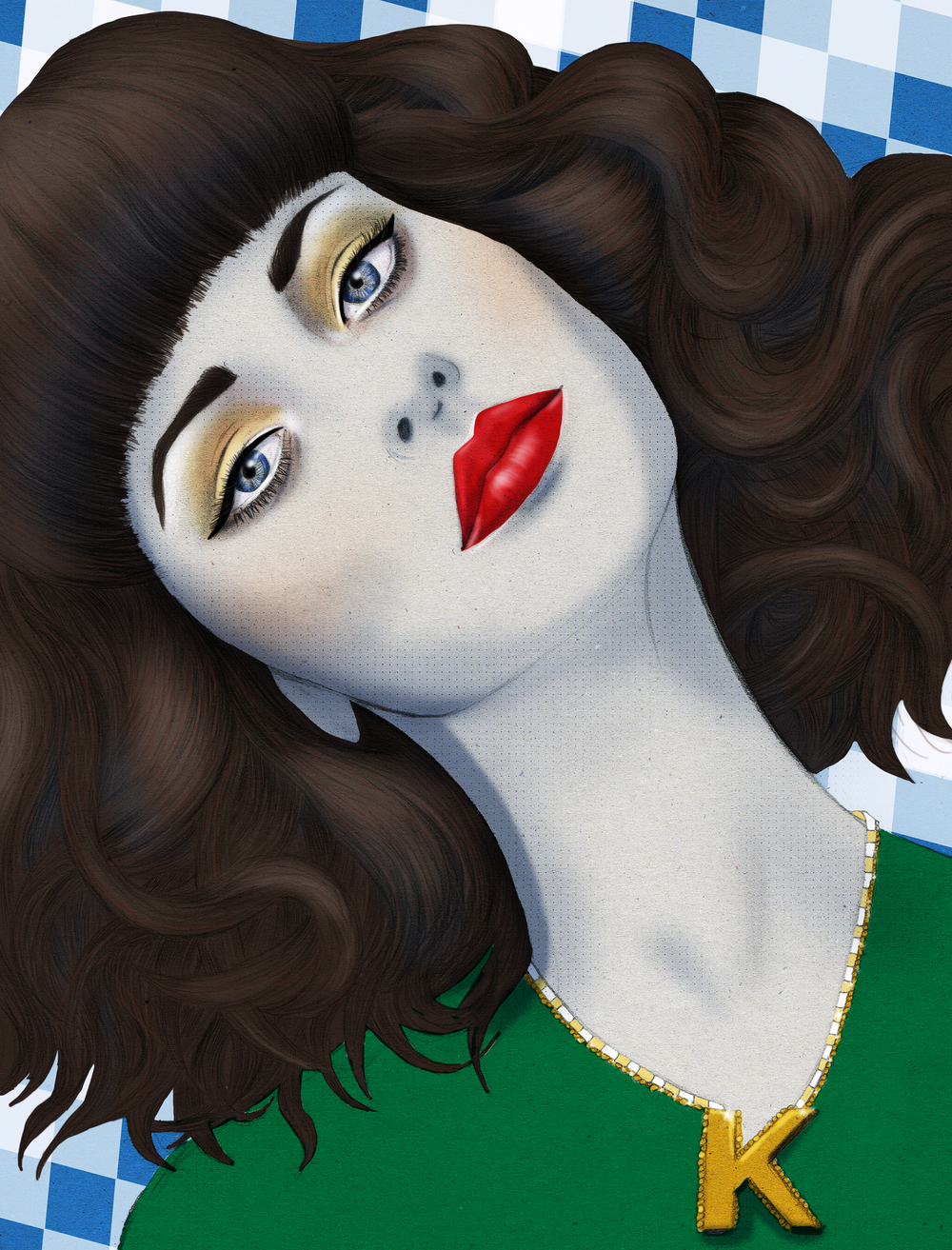 Kelly Thompson Illustration blog Kimbra portarit