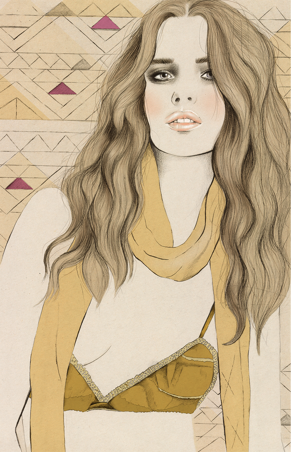Kelly Thompson fashion illustration blog