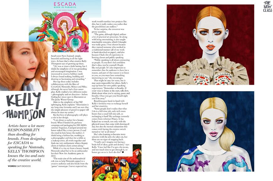 Kelly Thompson illustration blog Collective Magazine