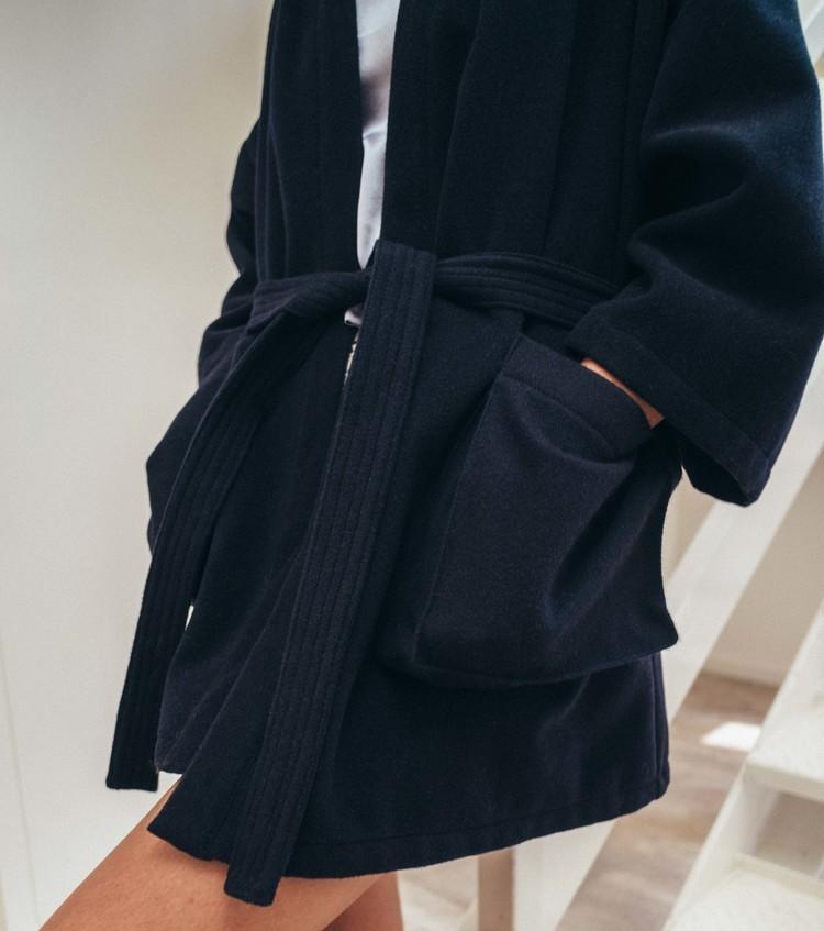 Kimono Coat - Hunter