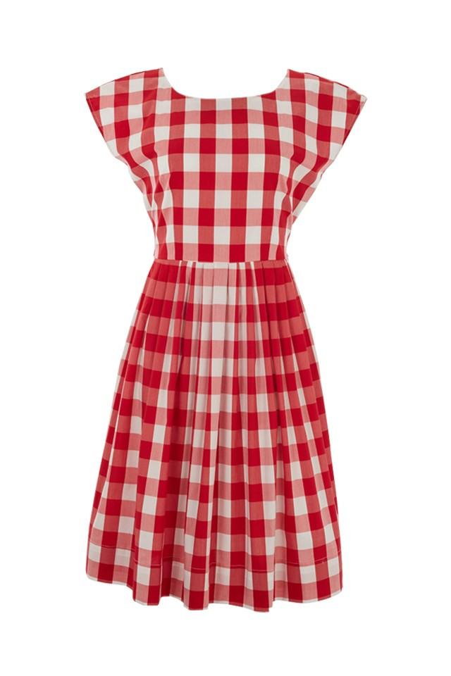 Picnic Check Prom Dress -  Lowie