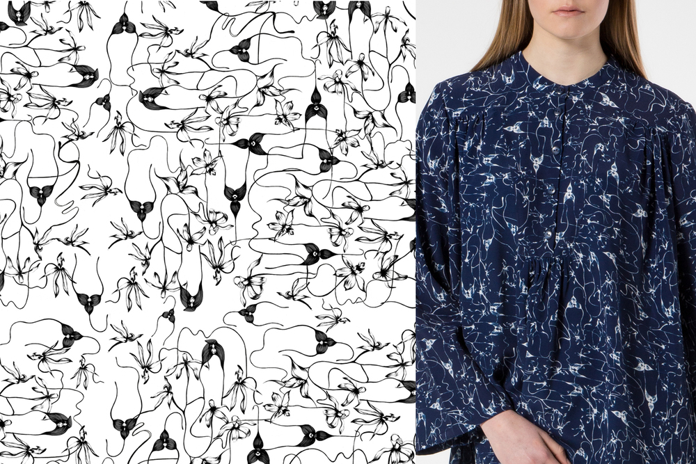 Kelly Thompson BLAK Textile Print Illustration