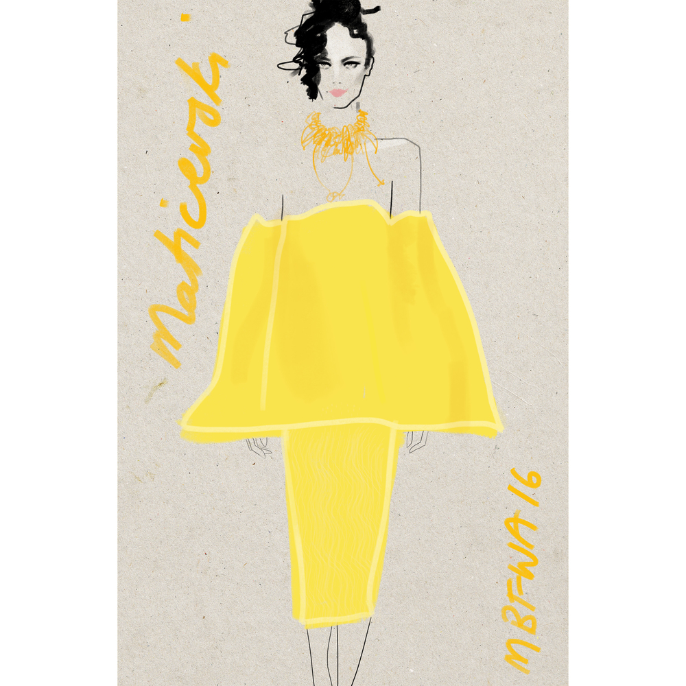 MBFWA 2016 Maticevski yellow www.kellythompsoncreative.com