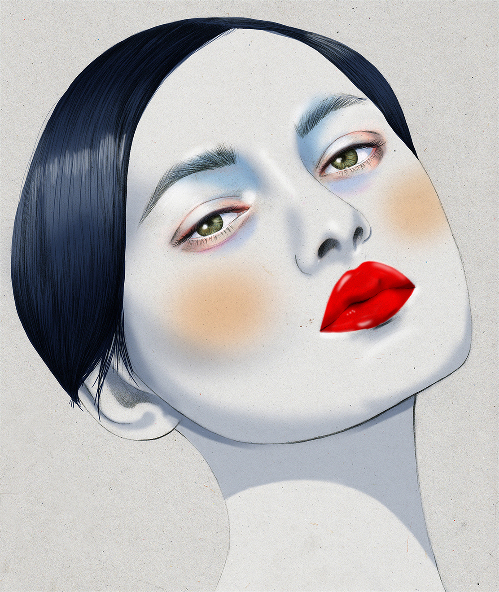 Kelly Thompson beauty illustration Melbourne Laud Magazine