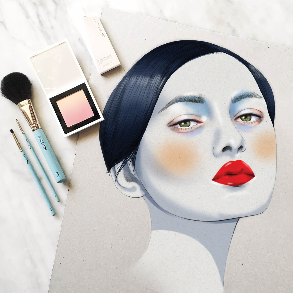 Kelly Thompson beauty illustration Melbourne