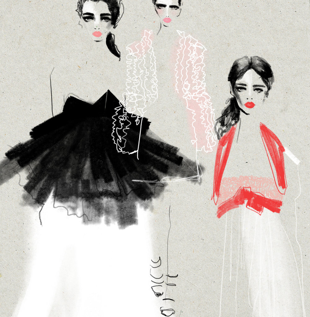 Kelly Thompson illustration www.kellythompsoncreative.com Giambattista Valli