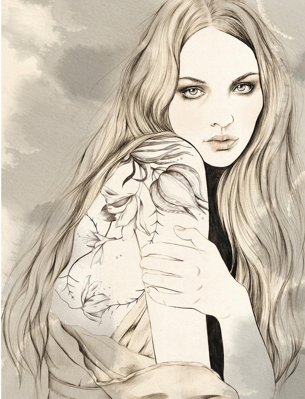 Kelly Thompson tattoo illustration www.kellythompsoncreative.com