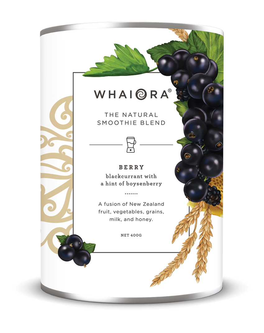 Kelly Thompson Whaiora Smoothie packaging