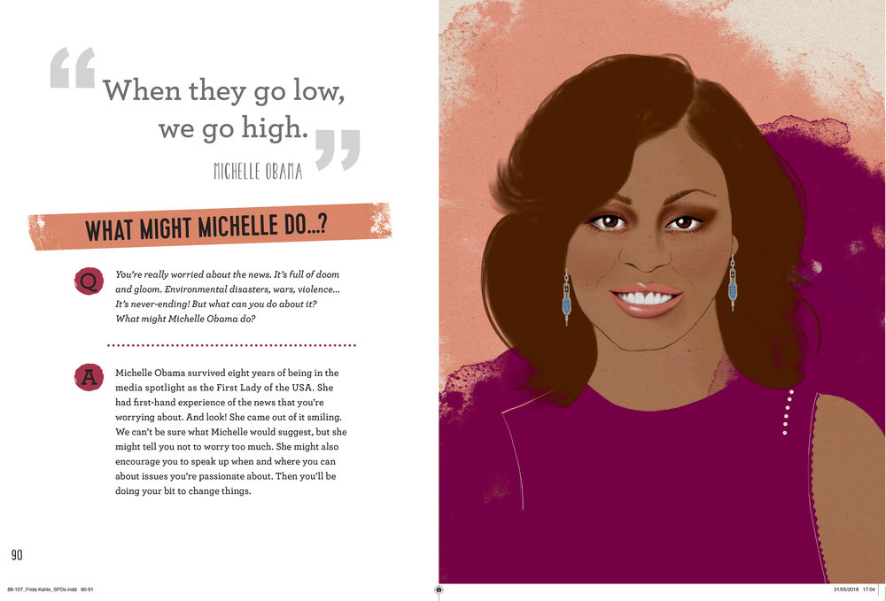 Michelle Obama Kelly Thompson Illustration portrait