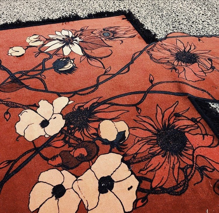 Kelly Thompson Illustration textile design for Wynn Hamlyn