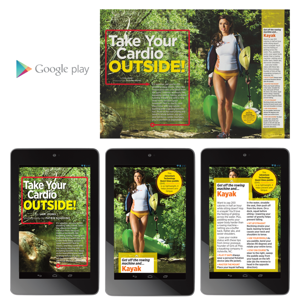 "Shape Magazine 7"" Tablet - Outside Cardio"