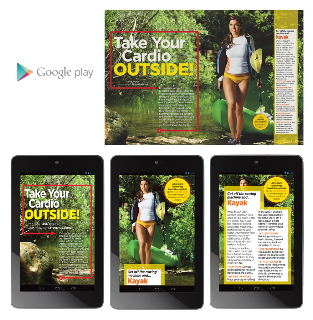 "Shape Magazine 7"" Tablet - Outside Cardio"