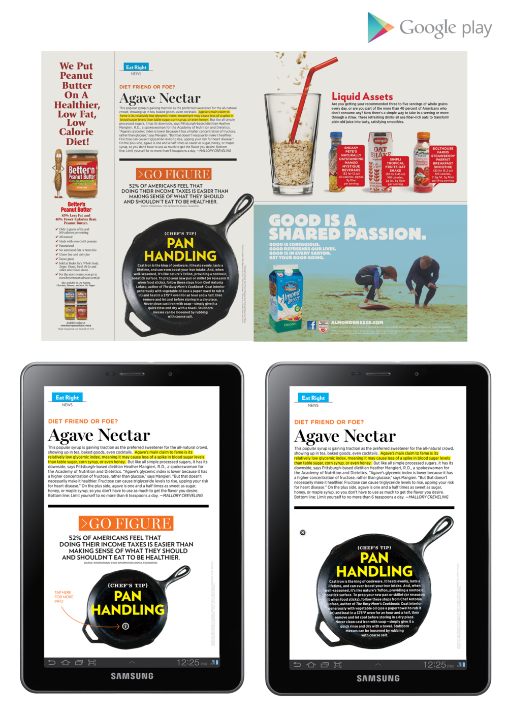 "Shape Magazine 7"" Tablet  - Agave Nectar"