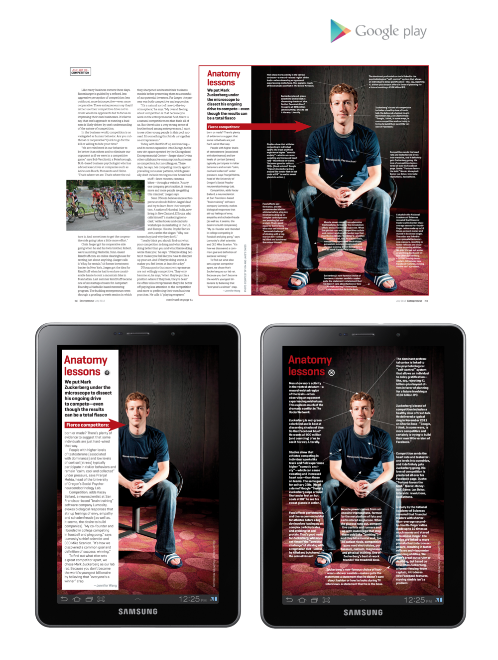 "Entrepreneur Magazine 7"" Tablet - Anatomy Lessons"