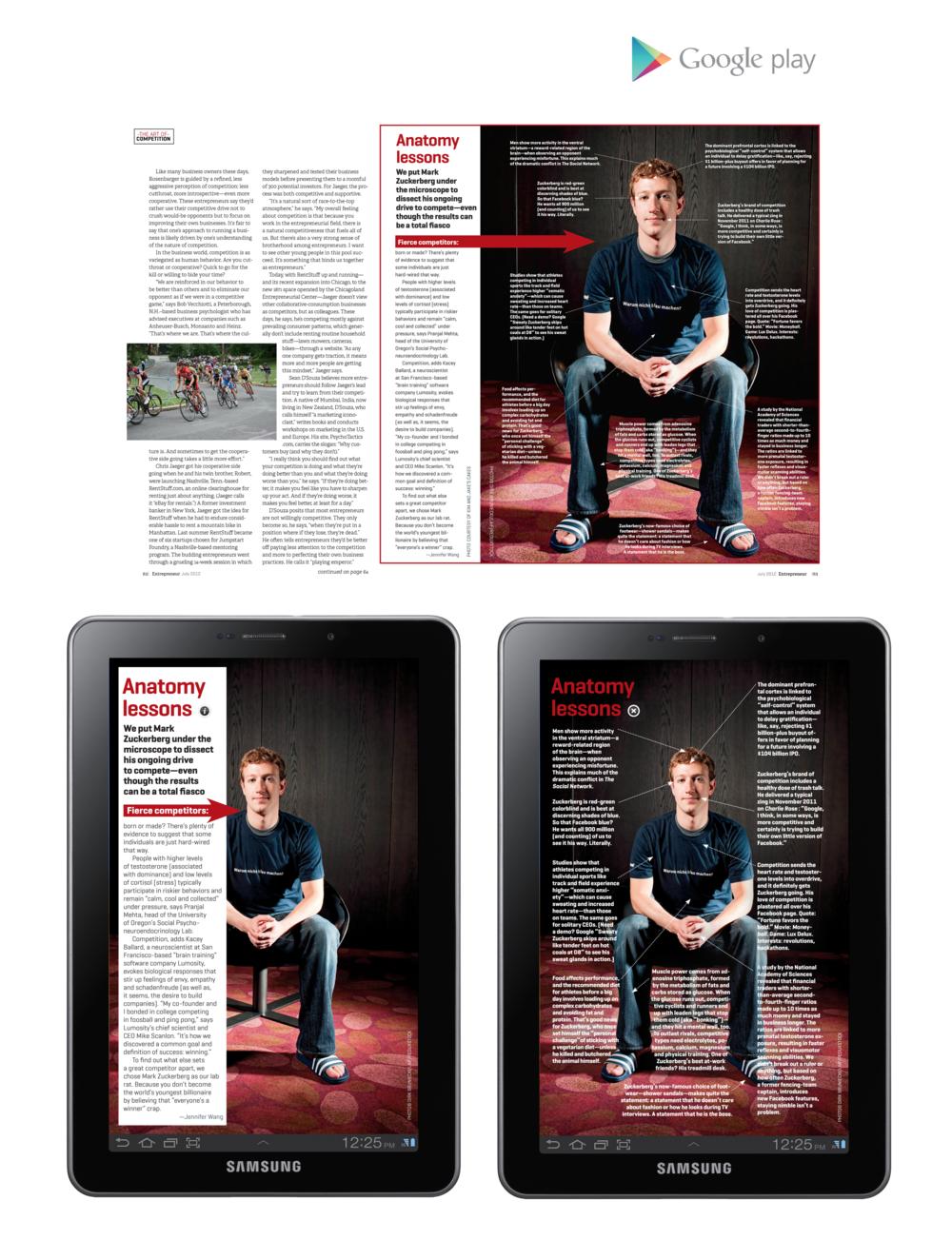 "Entrepreneur Magazine 7"" Tablet - Anatomy Lessons"