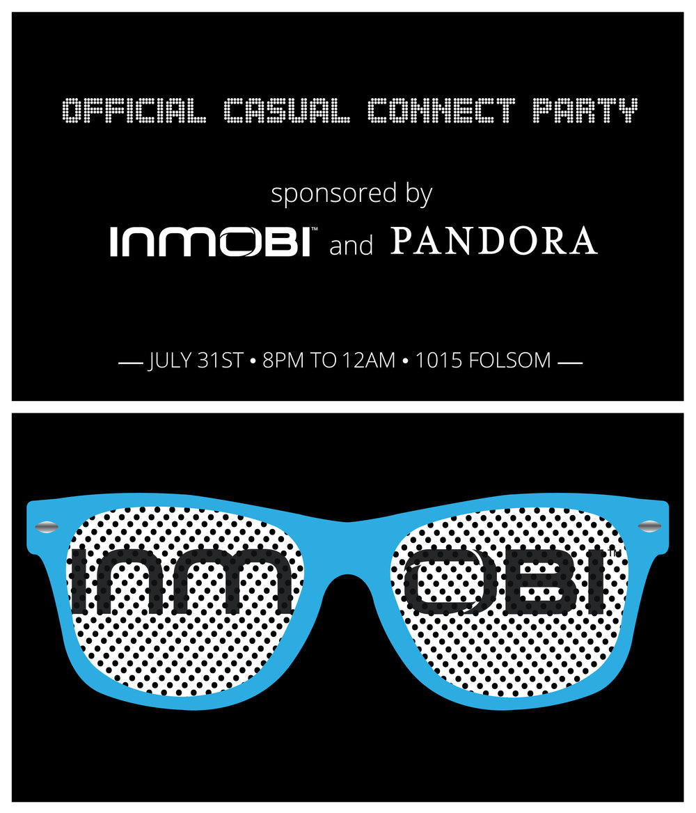 InMobi Casual Connect Party Card with Pandora