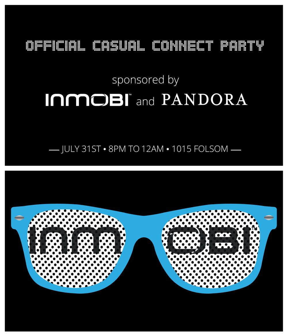 InMobi Casual Connect Party Card with Pandora