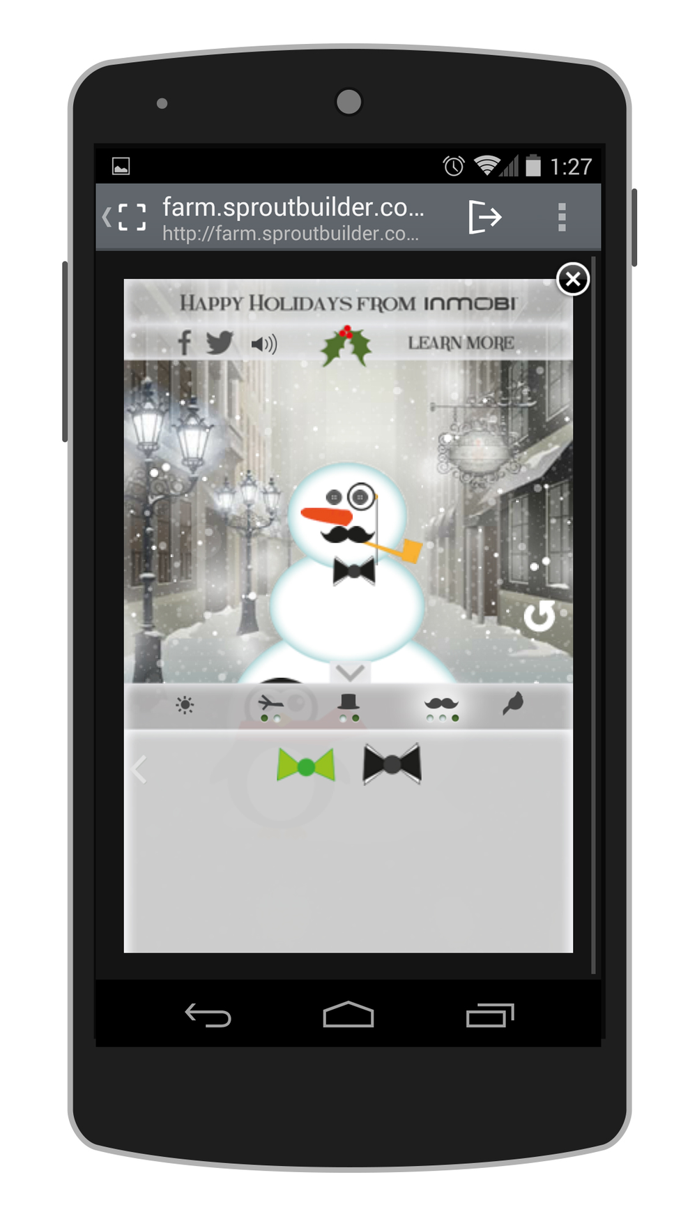 inmobi christmas card build a snowman emedesigns