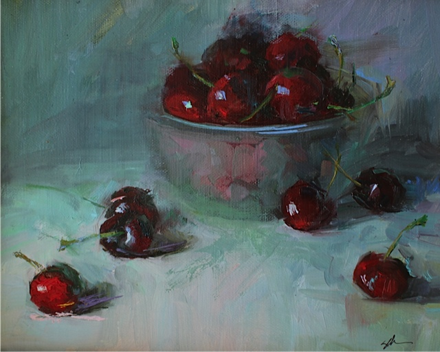 "life's a bowl of cherries - 8""x10"""