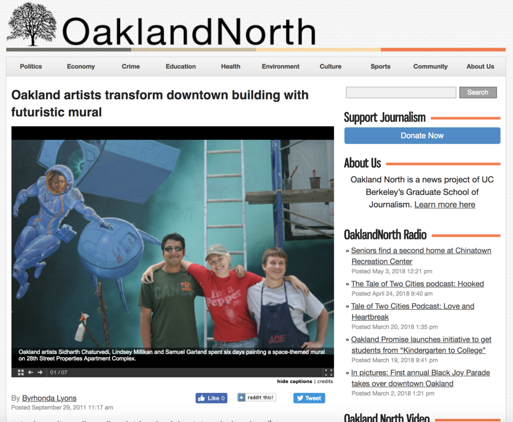 "An interview with OaklandNorth - ""Lindsey and her crew really worked hard and are passionate about what they do,"" Toppano said. ""I think we're going to go ahead and do the rest of the building, and make it one big show piece."""