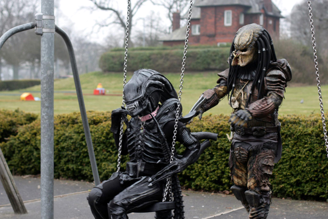 And the aliens need some R&R too.