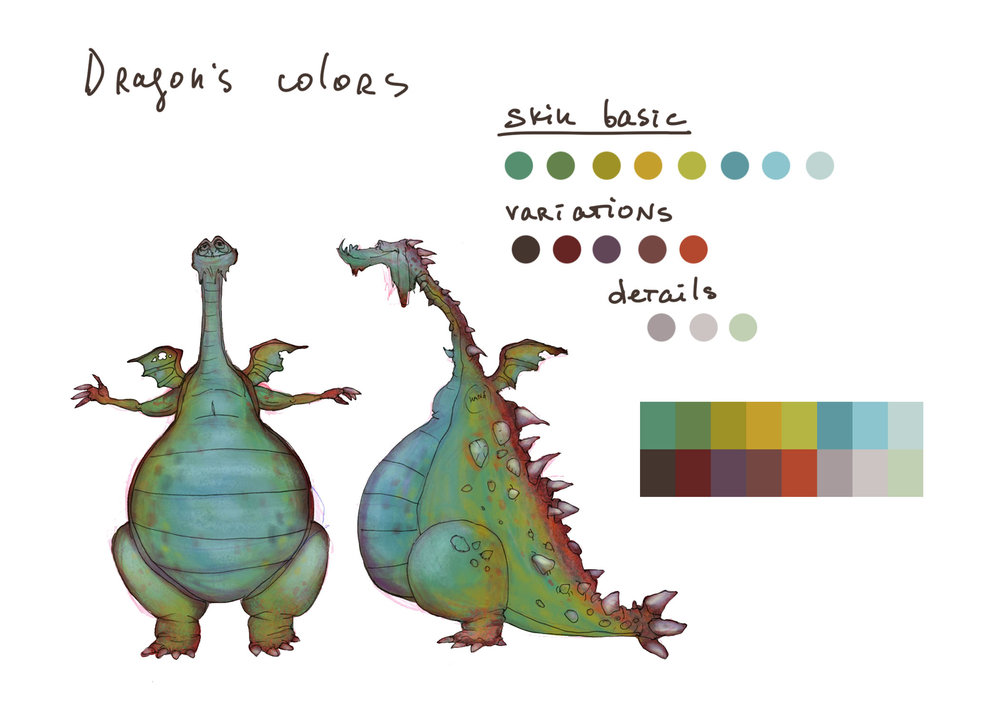 Color Dragon CharacterDesign_By_Steph_Dvoyak