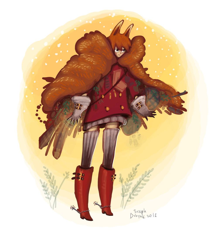 Foxgirl. Character deisgn