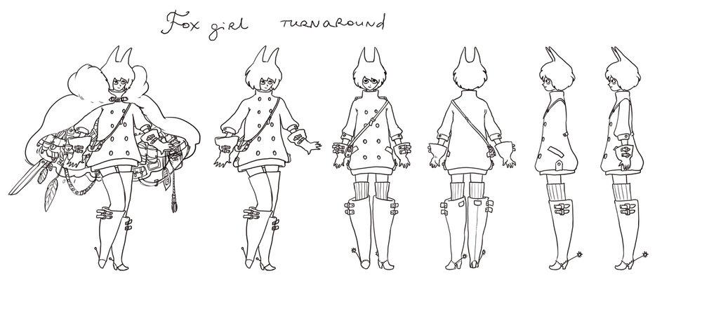 Foxgirl.Character turnaround