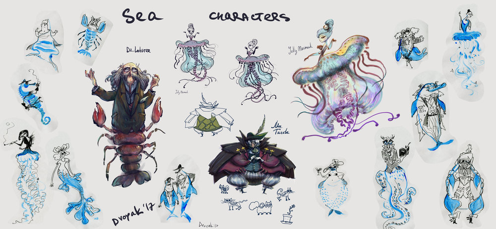 Sea Project. Characters exploration